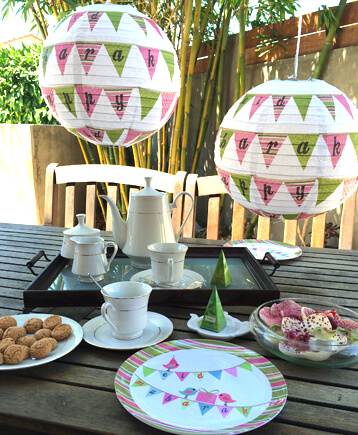 Shabby Chic decorations from Eid Creations bring a wonderful brightness and fun to any gathering